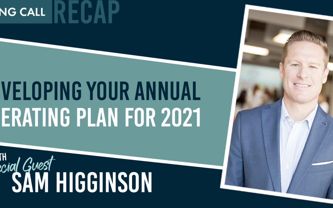 Developing Your Annual Operating Plan